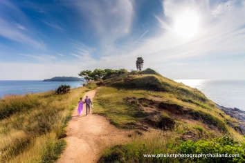 pre-wedding photoshoot at prom thep cape , phuket,thailand