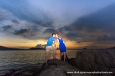couple at kalim beach , phuket , thailand