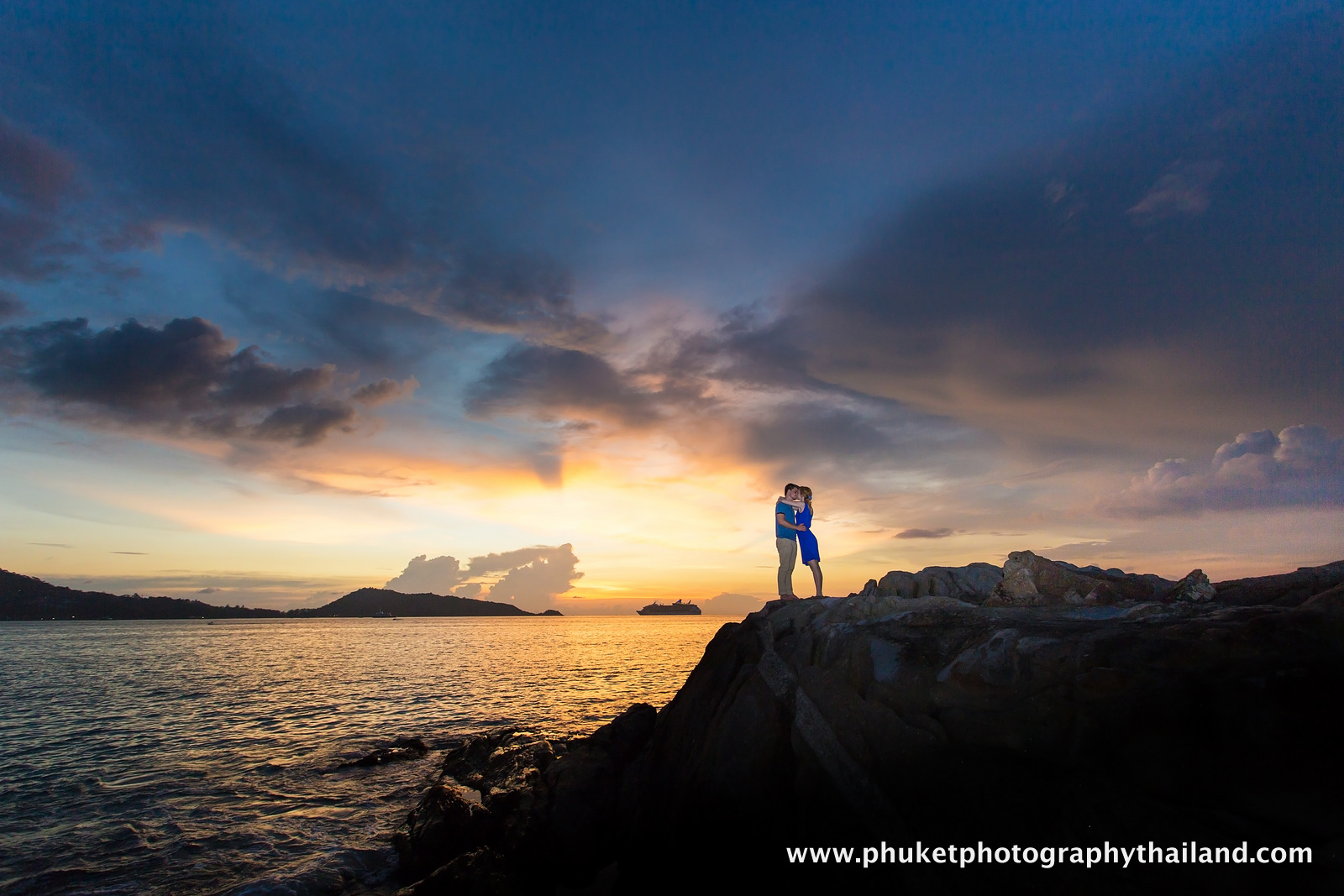 couple photoshoot at kalim beach , phuket thailand