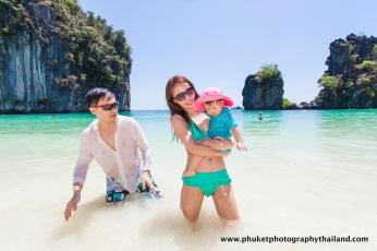 family photography at koh hong , krabi thailand