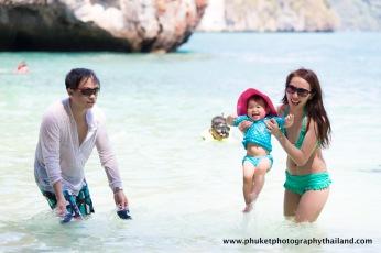 family photography at koh hong , krabi