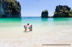 family photography at koh hong , krabi thailand