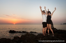 couple photography at kalim bay , phuket