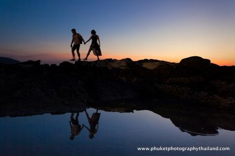 couple photography at kalim bay , phuket