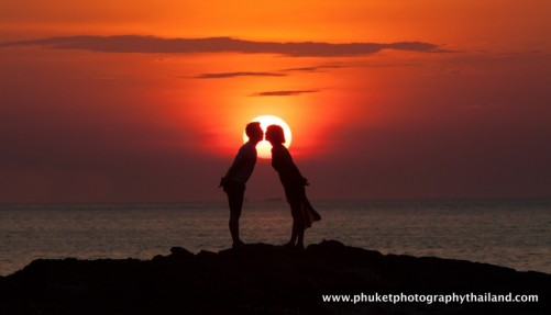 couple photoshoot at kalim bay , phuket thailand