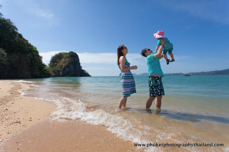 family photography at phang nga , thailand