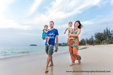 family photoshoot at kata noi beach , phuket