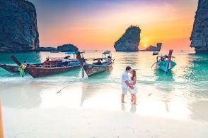 Honeymoon photoshoot at Phi Phi island Krabi Thailand at Phi Phi Krabi Thailand