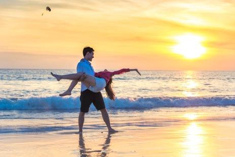 Honeymoon photo session at karon beach phuket thailand