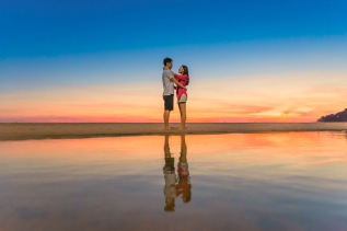 Honeymoon photo session at karon beach phuket thailand