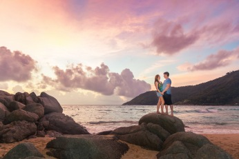 honeymoon photoshoot at mango steen resort phuket