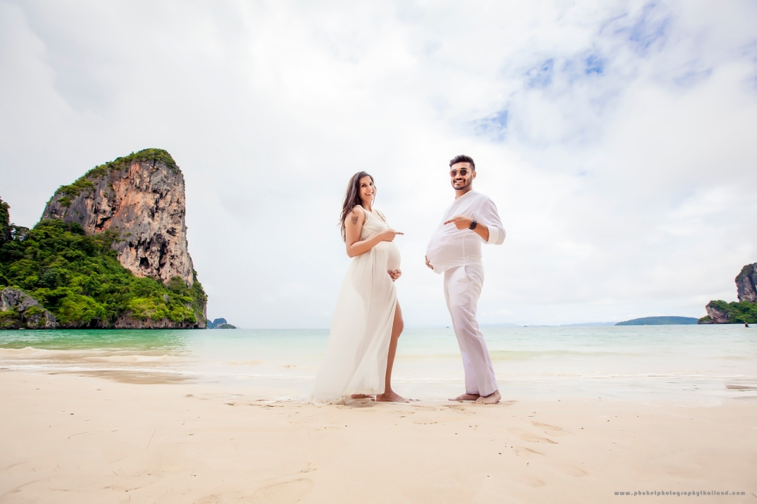 maternity photoshoot at railay beach Krabi Thailand