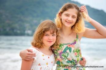 family photoshoot at Kamala beach Phuket thailand