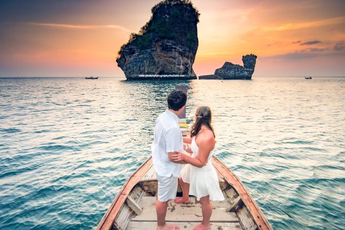 Honeymoon photoshoot at phi phi island